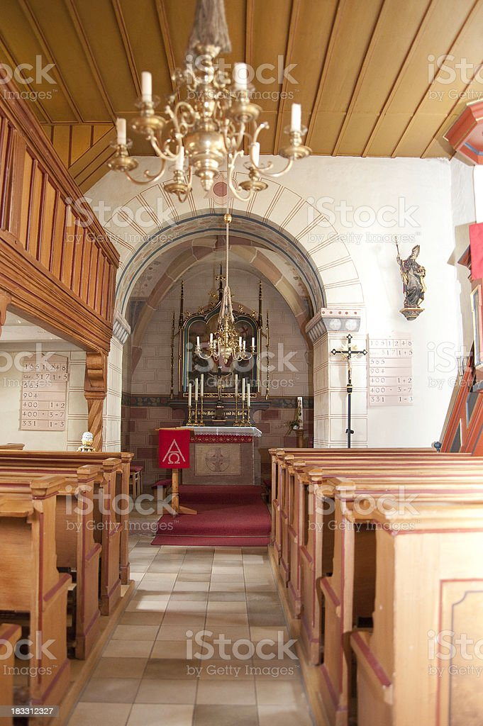 old church indoor with no people royalty-free stock photo