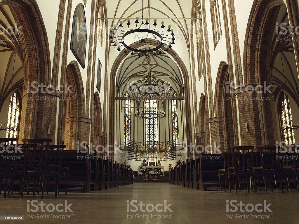 Old church interior royalty-free stock photo
