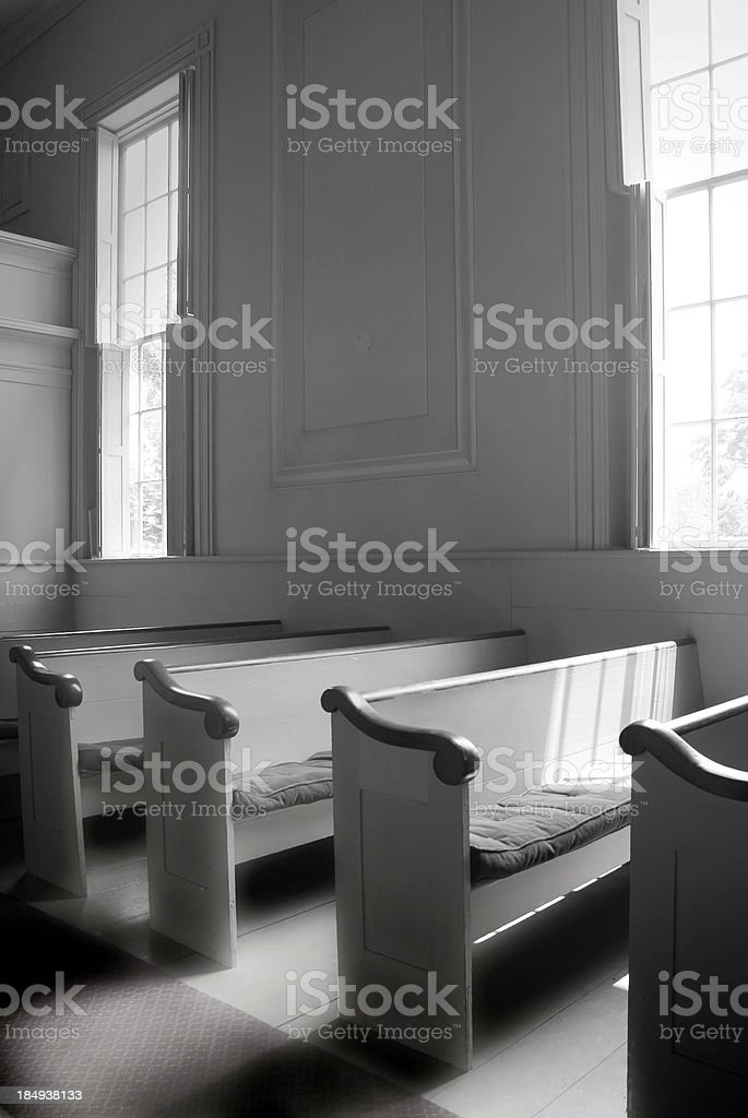 Old Church Interior royalty-free stock photo