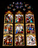 Old church Notre Dame la Grande in Poitiers, Stained glass