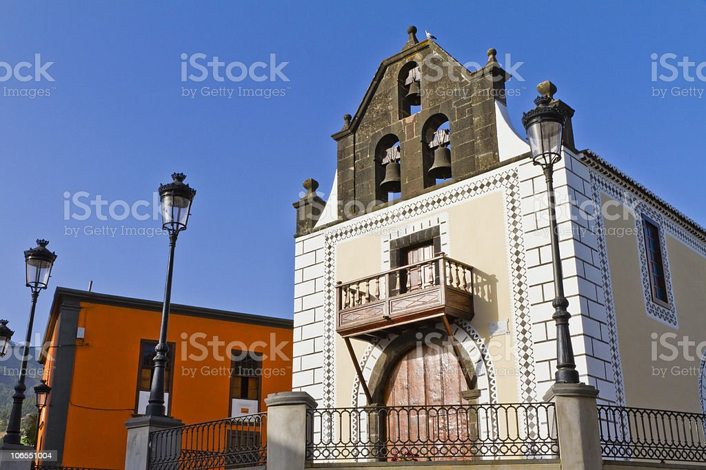 Old Church of El Paso, La Palma stock photo