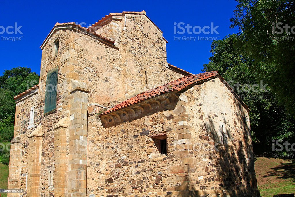 Old church of San Miguel de Lillo in Oviedo, Spain stock photo
