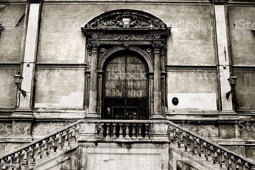 Old Church portal St. Catherine Palermo Sicily Italy stock photo