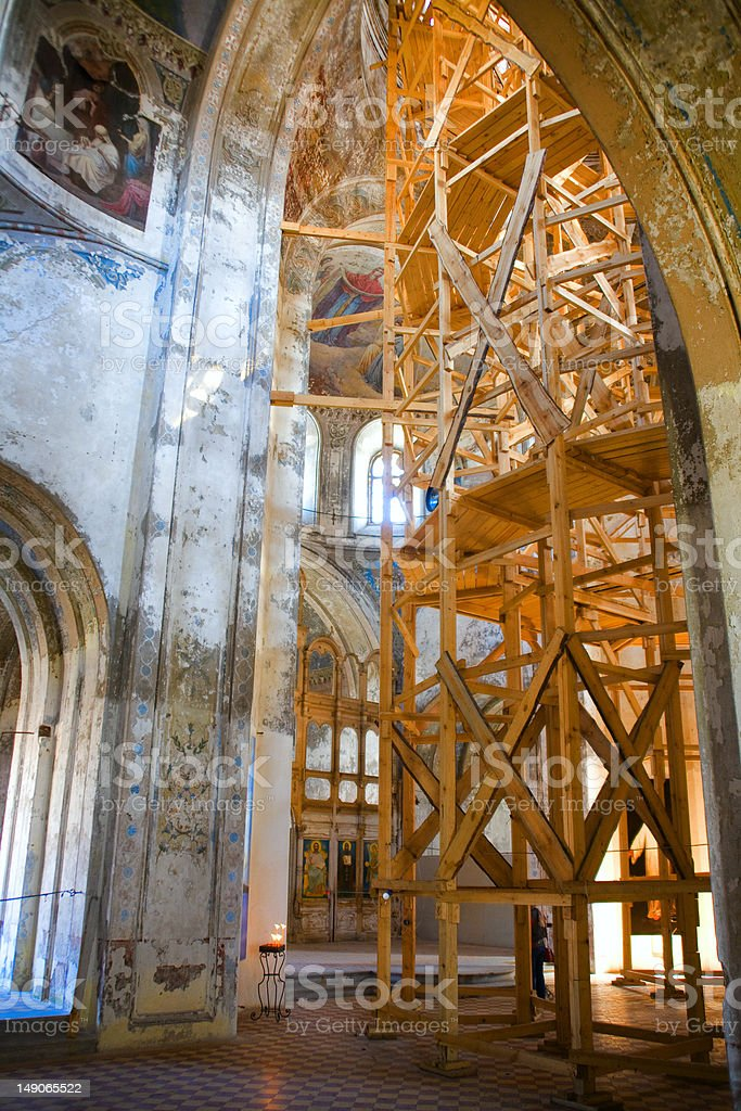 Old church reconstruction royalty-free stock photo