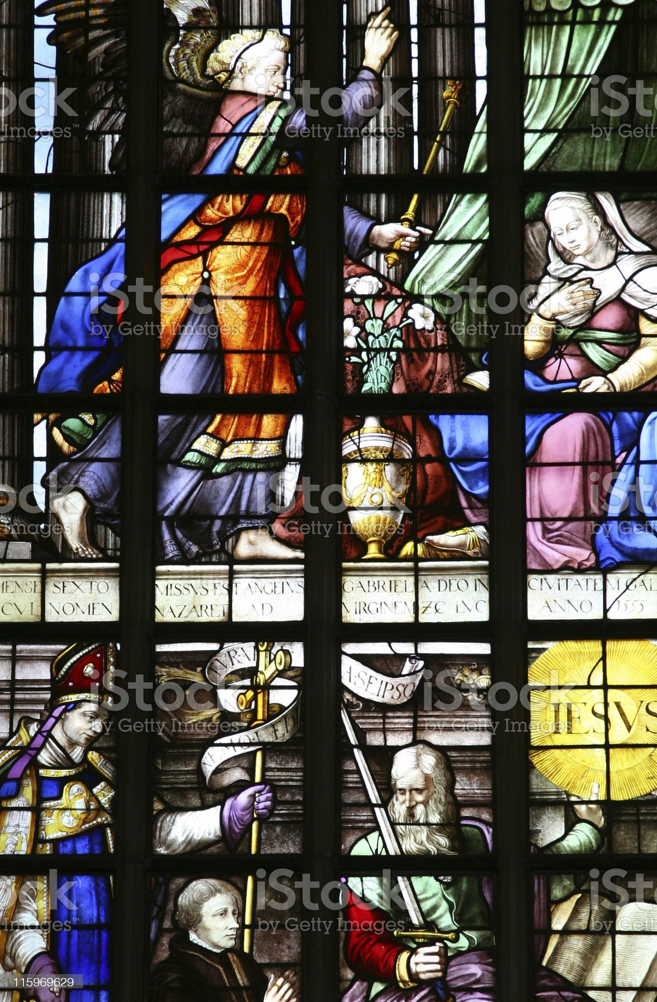 Old Church Stained Glass Window royalty-free stock photo