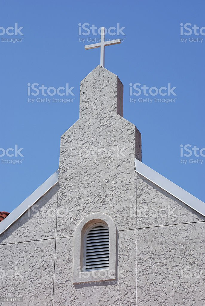 Old Church Steeple stock photo