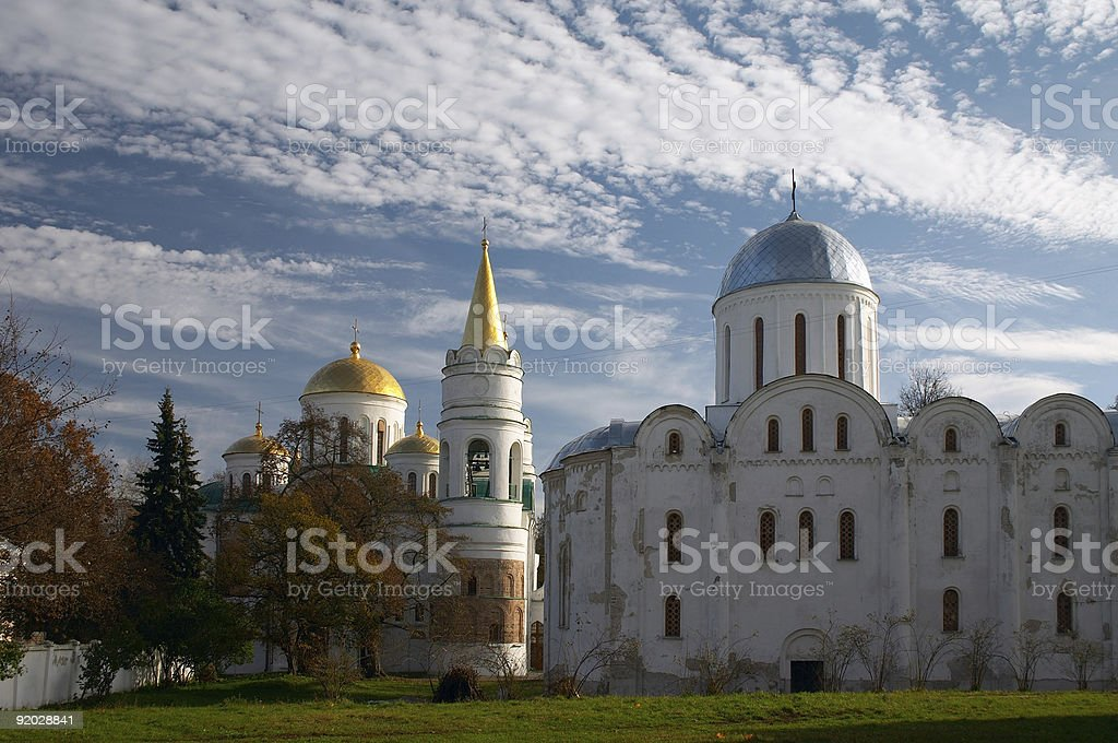 old churches stock photo