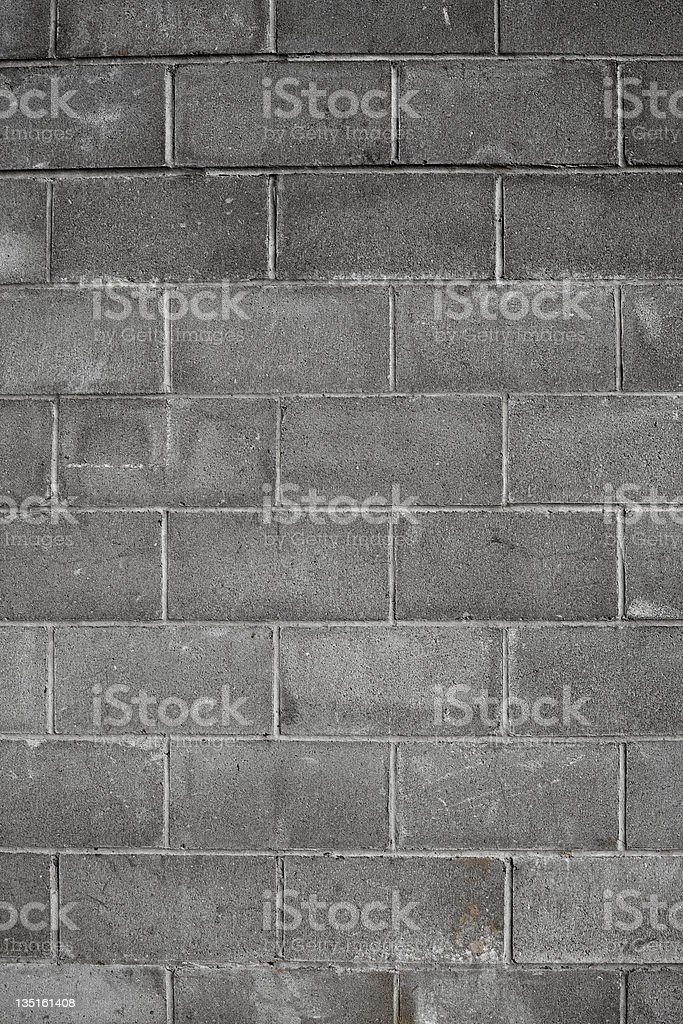 Old Cinder Block Wall stock photo