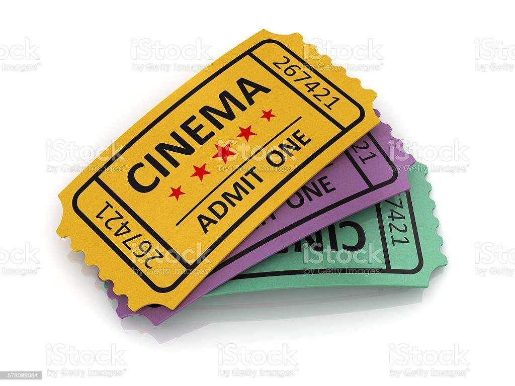 Old cinema ticket stock photo