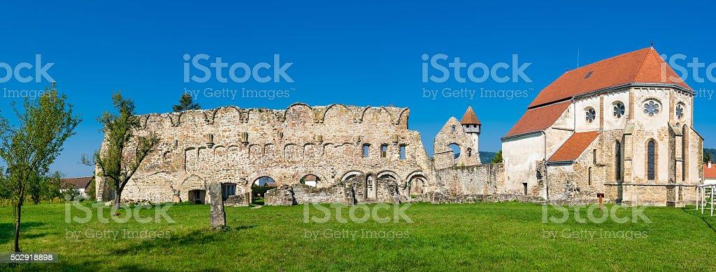 Old Cistercian Church in Carta, Romania stock photo