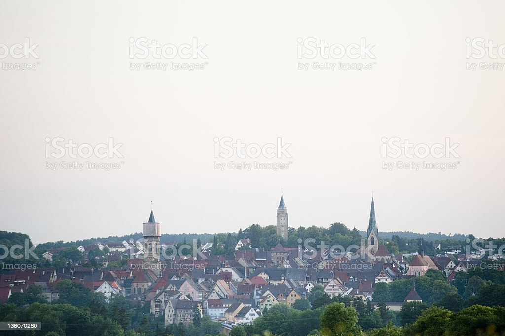 Old city and county town of Rottweil - close stock photo