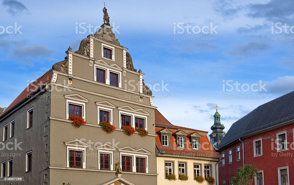 Old City Architecture in Weimar, Germany stock photo