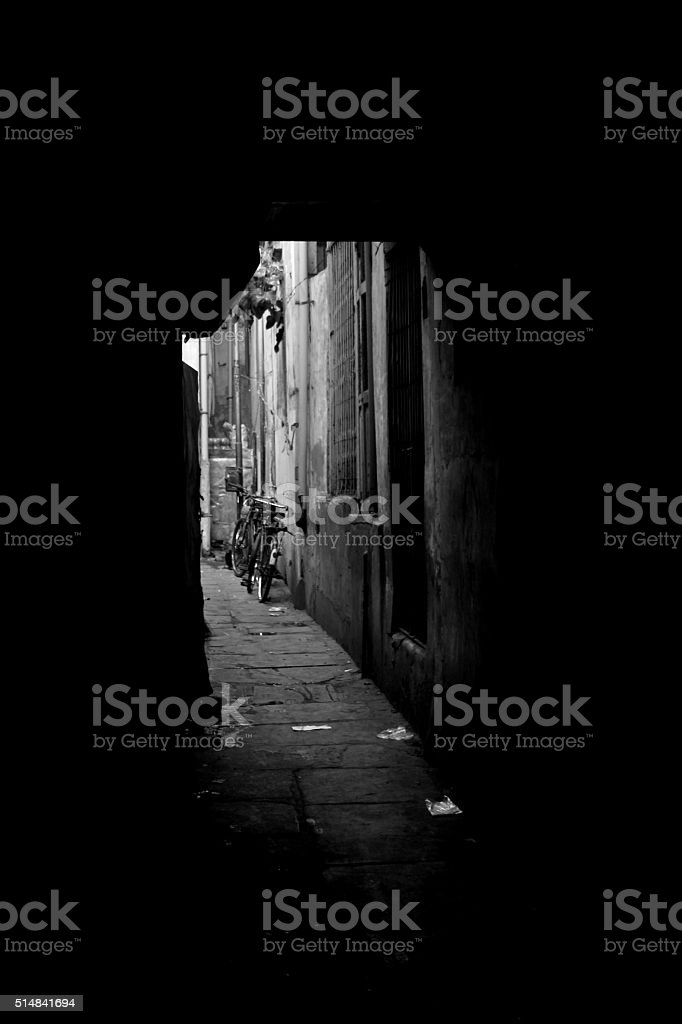 Old City- Black and White stock photo