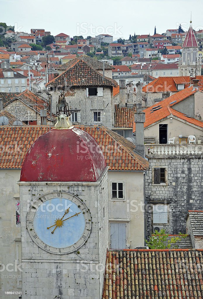 Old city clock tower royalty-free stock photo