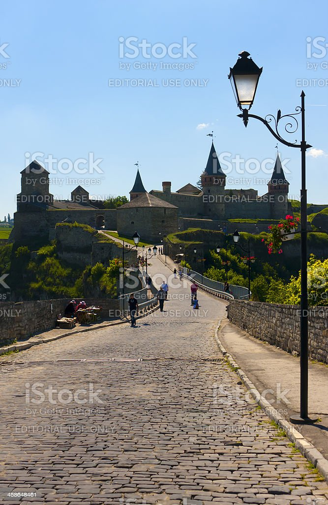 Old city fortress stock photo