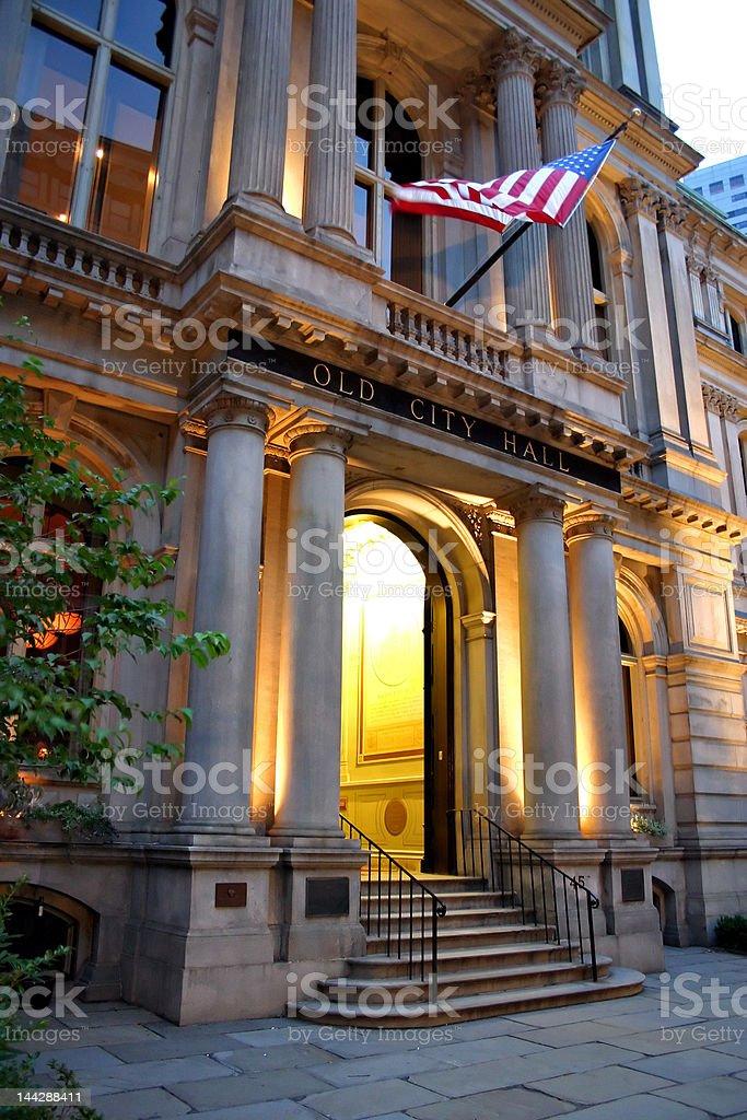Old City Hall, Boston stock photo