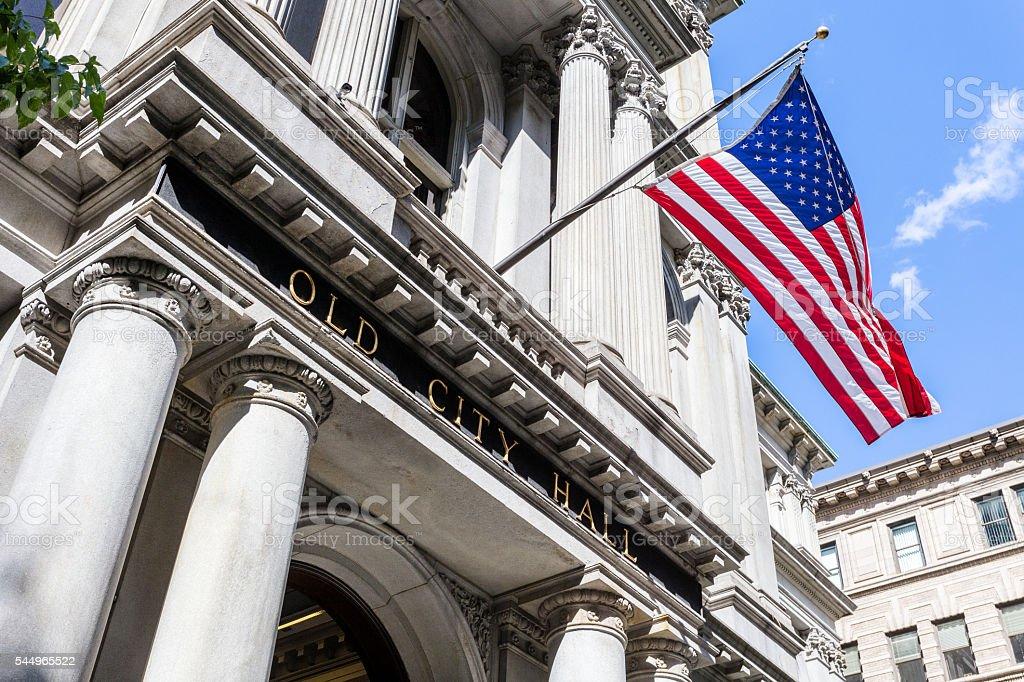 Old City Hall in Boston, Massachusetts stock photo