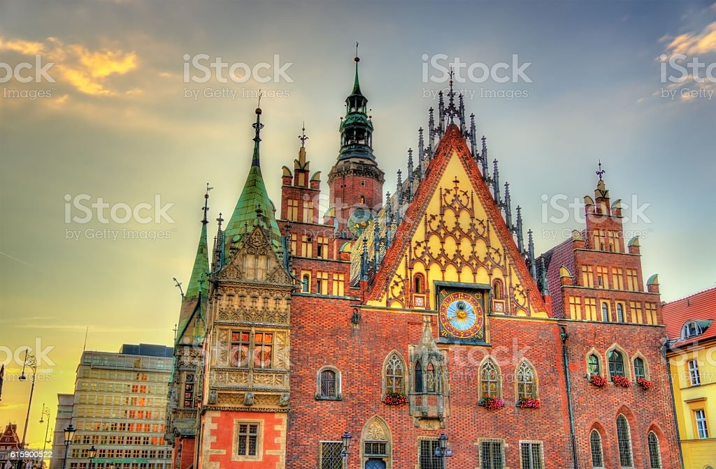 Old City Hall in Wroclaw, Poland stock photo