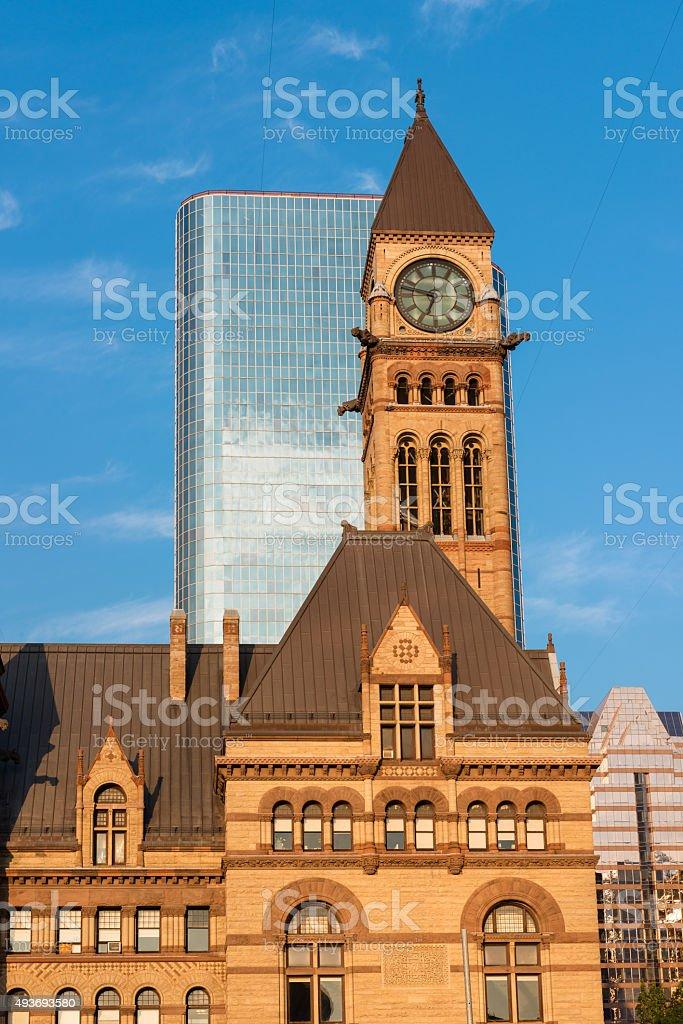 Old City Hall of Toronto at dusk stock photo