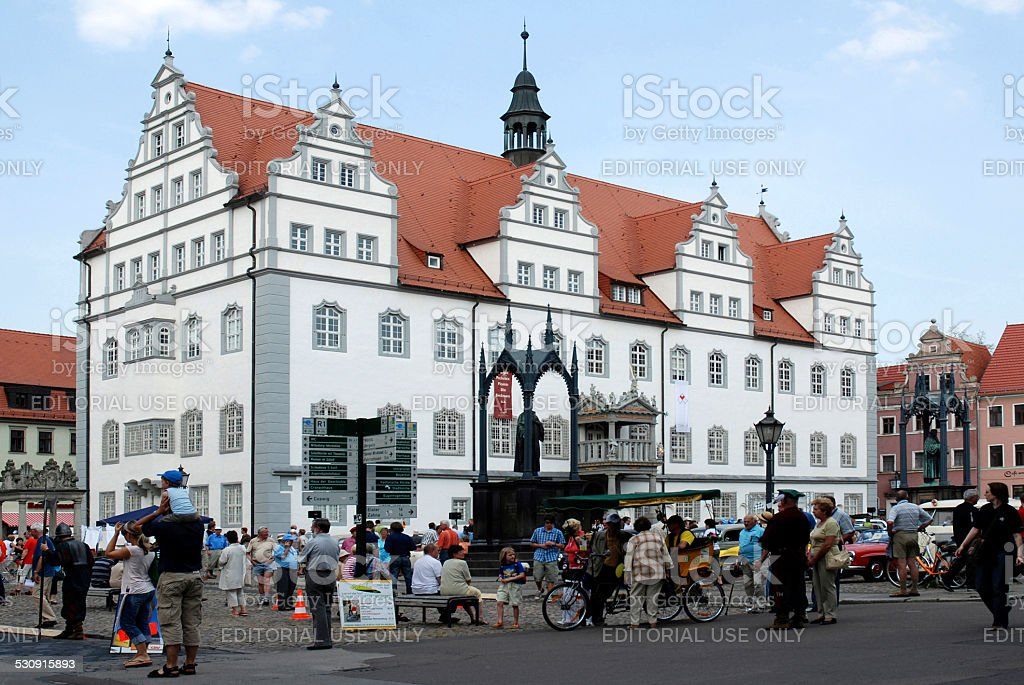 Old city hall of Wittenberg stock photo