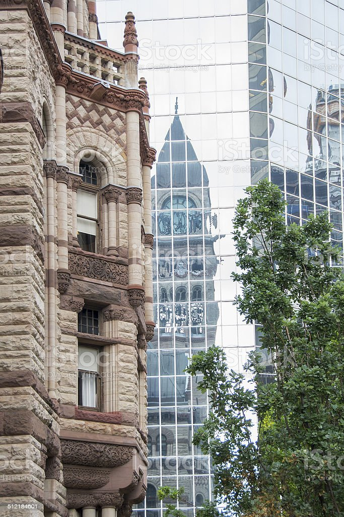 Old City Hall Toronto an example of Romanesque Revival Architect stock photo