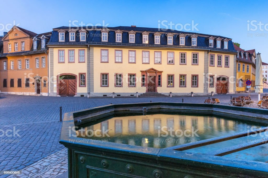 Old City houses in Weimar, Germany stock photo