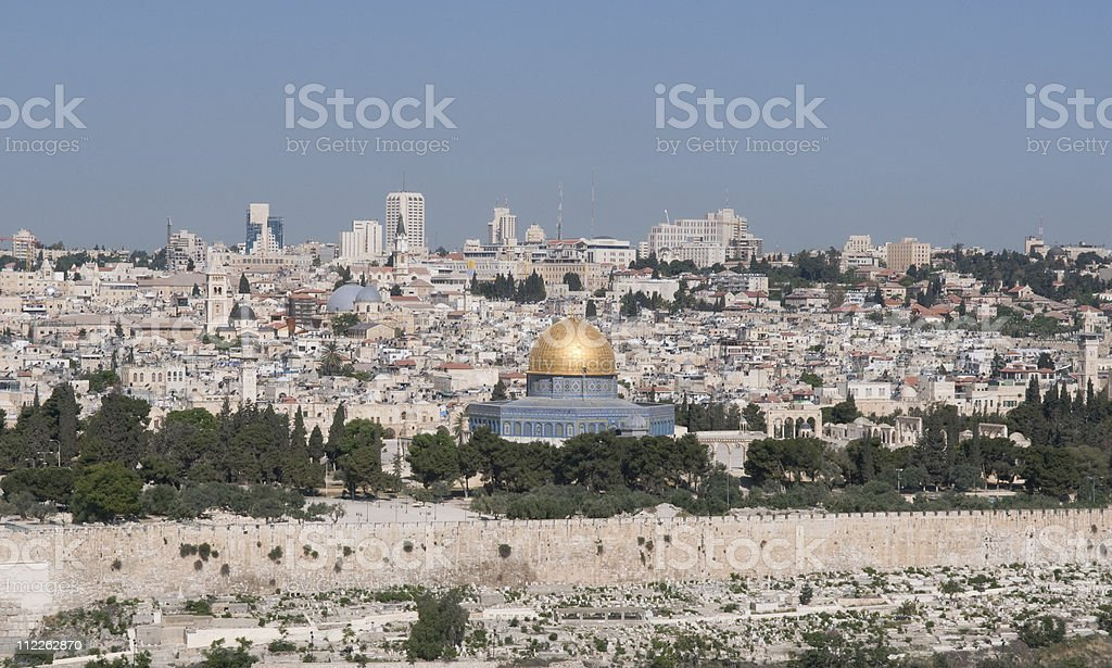 Old City Jerusalem royalty-free stock photo