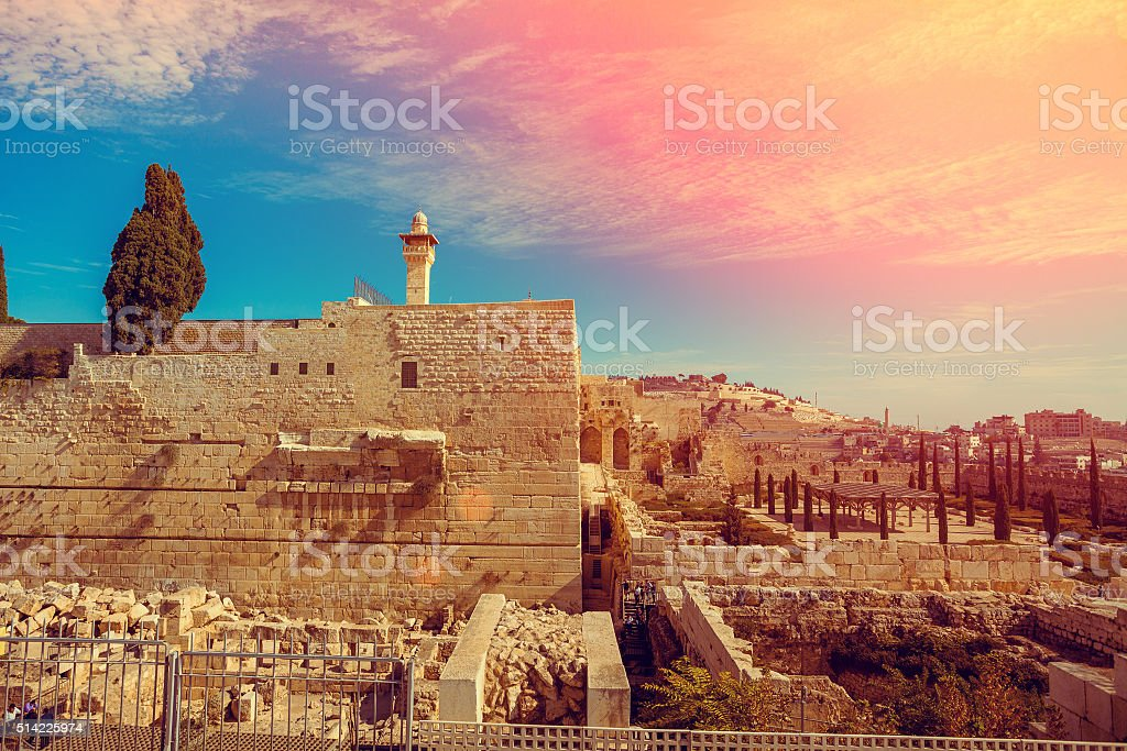 Old city Jerusalem stock photo