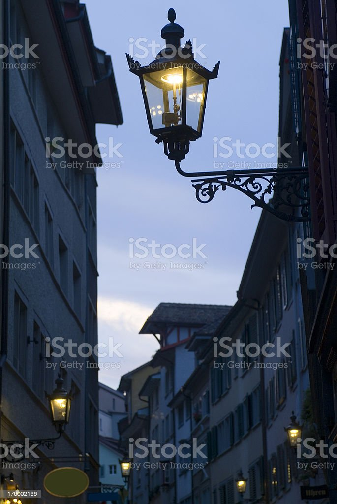 Old city lamp royalty-free stock photo