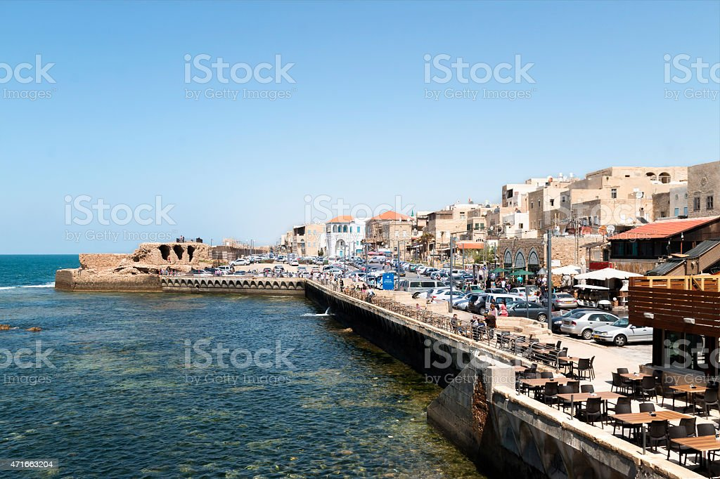 Old City of Acre (Akko) Israel stock photo