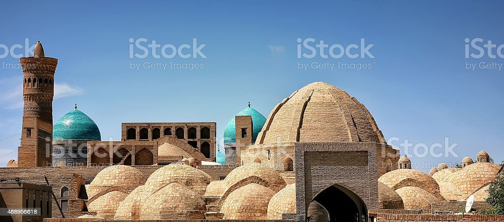Old city of Bukhara Uzbekistan stock photo
