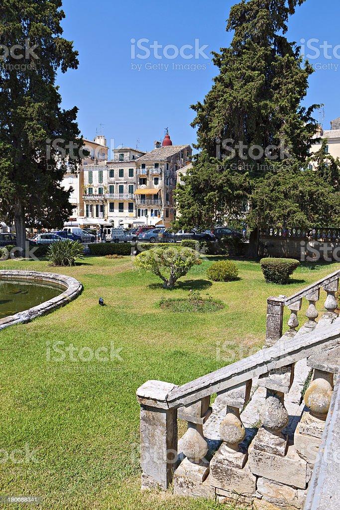Old city of Corfu island in Greece royalty-free stock photo