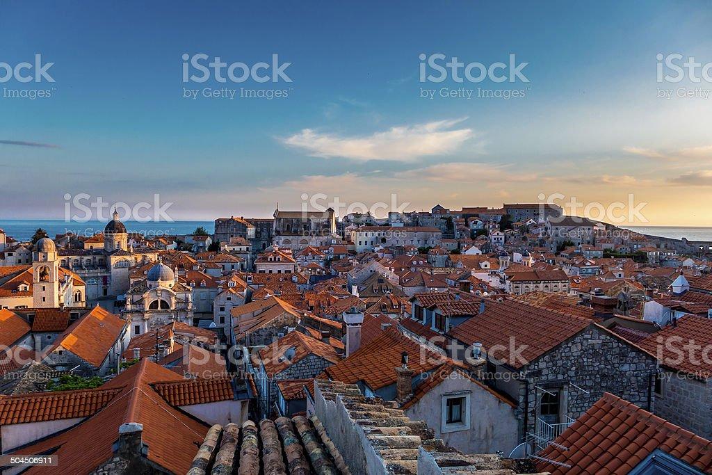 Cidade velha de Dubrovnik, Croácia foto royalty-free