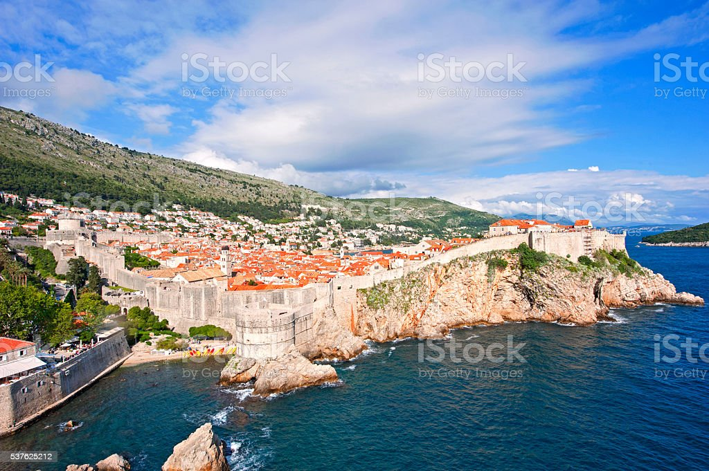 Old city of Dubrovnik stock photo