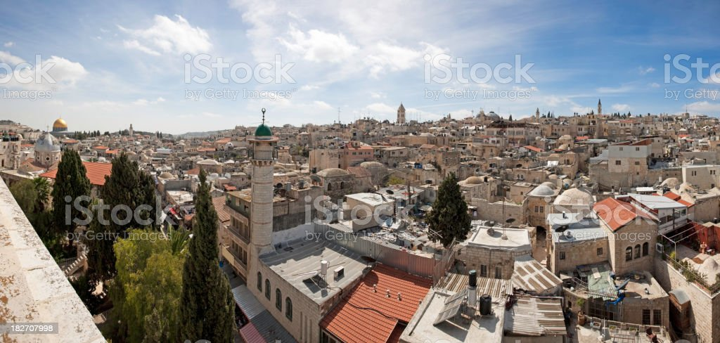 Old city of Jerusalem - Panorama stock photo