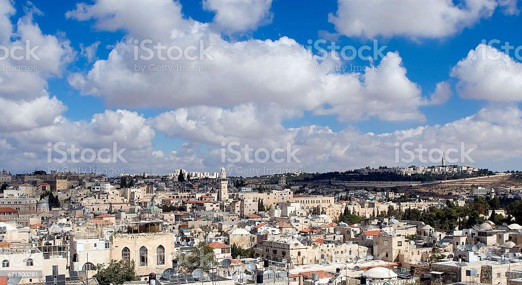 Old city of Jerusalem stock photo