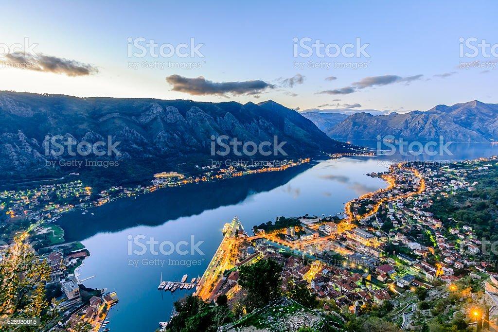 Old city of Kotor, Montenegro stock photo