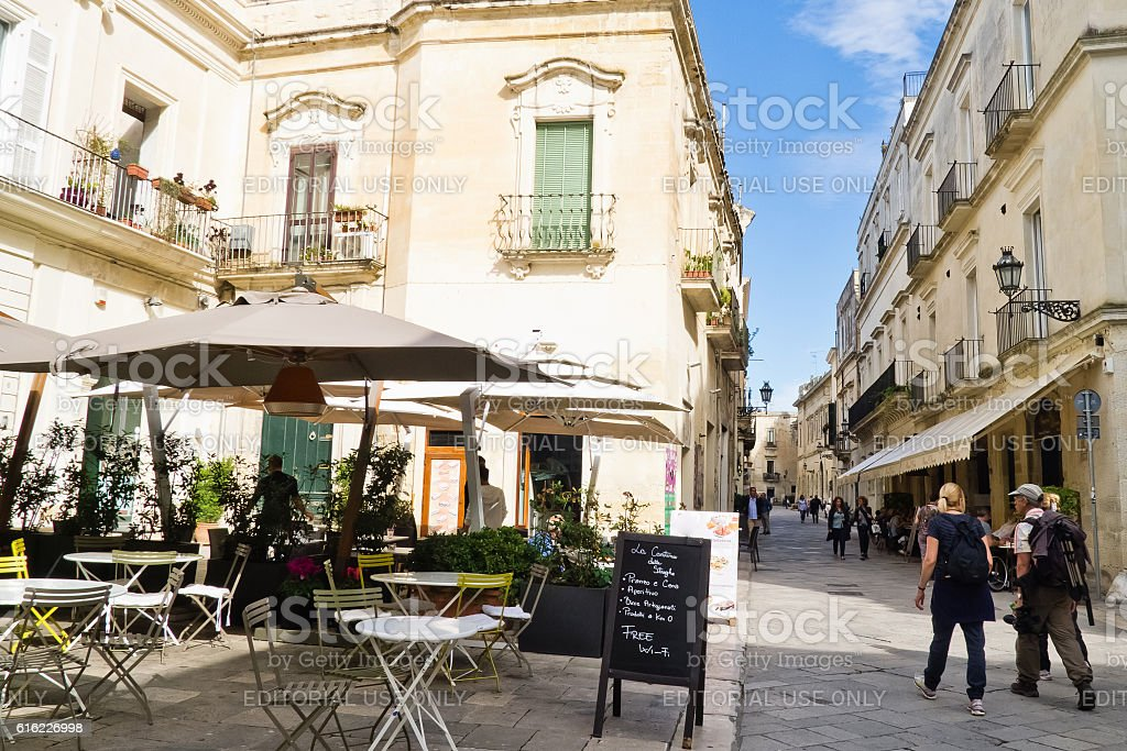 Old city of Lecce. stock photo