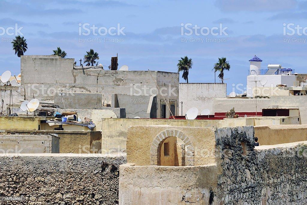 Old city portuguese Mazagan, Morocco stock photo