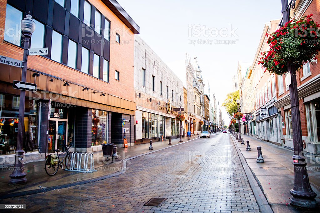 old city Quebec stock photo