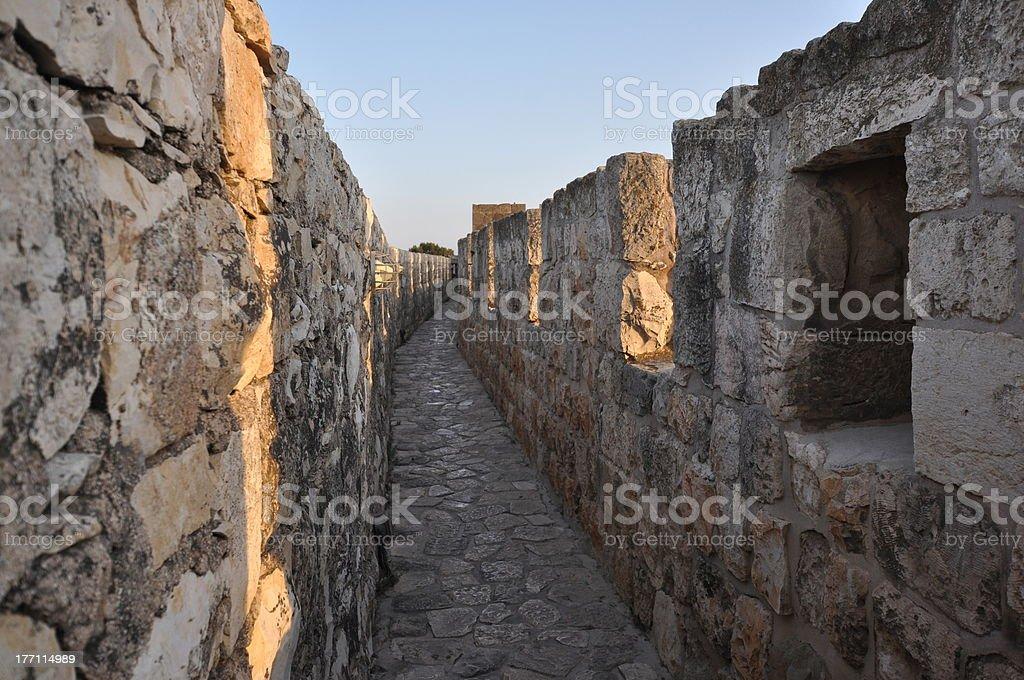 Old City Ramparts, Jerusalem stock photo