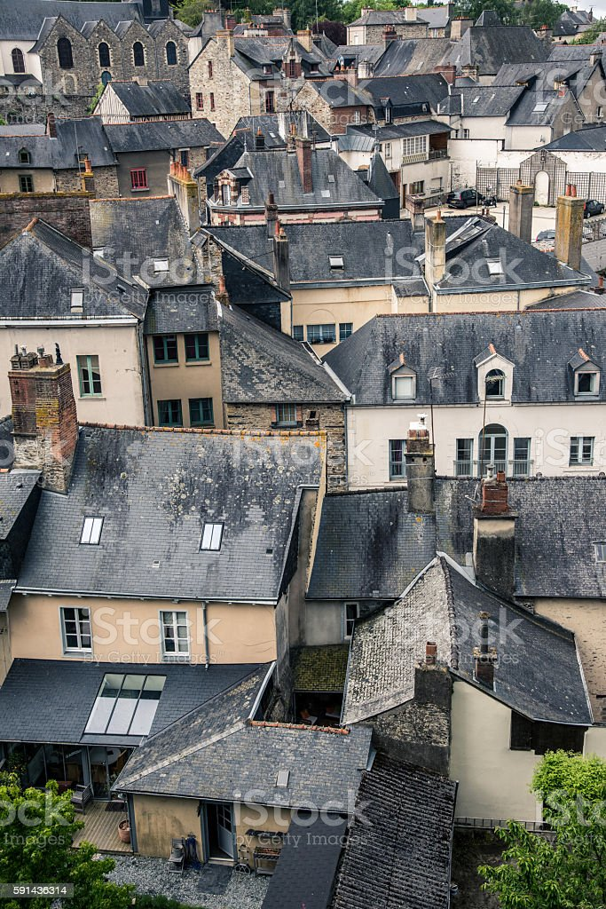Old city roofs stock photo