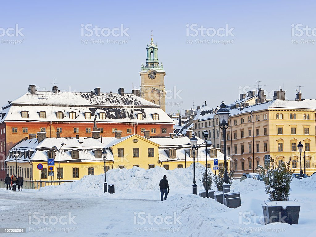 Old city (Gamla stan) Stockholm Sweden in the winter, royalty-free stock photo
