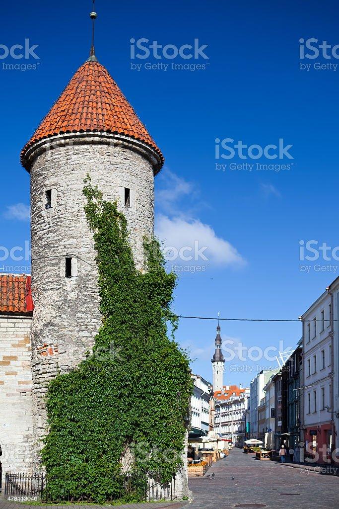 Old City. Tallinn, Estonia the entrance from  Viru Gate stock photo