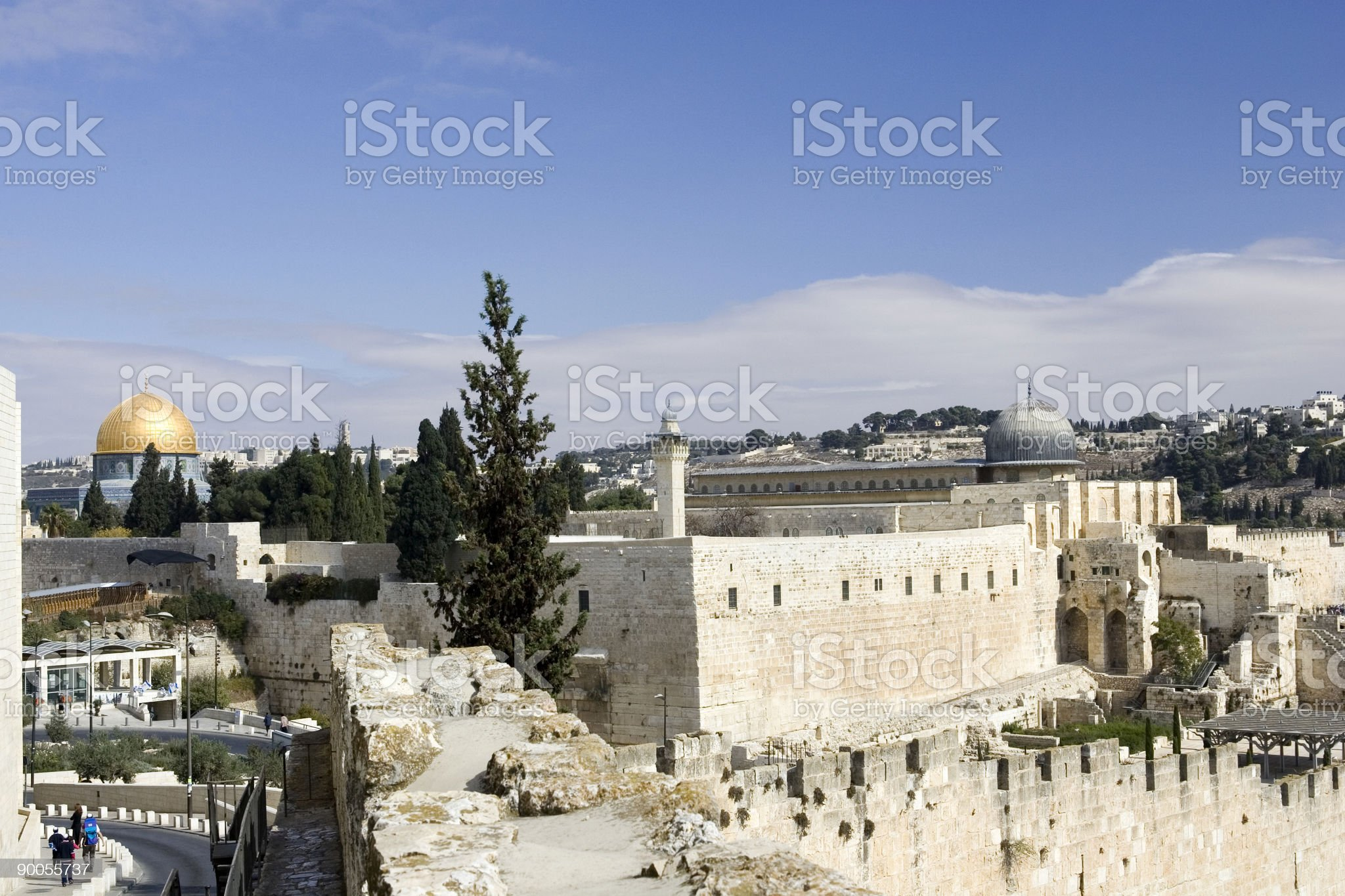 Old City & Temple Mount royalty-free stock photo