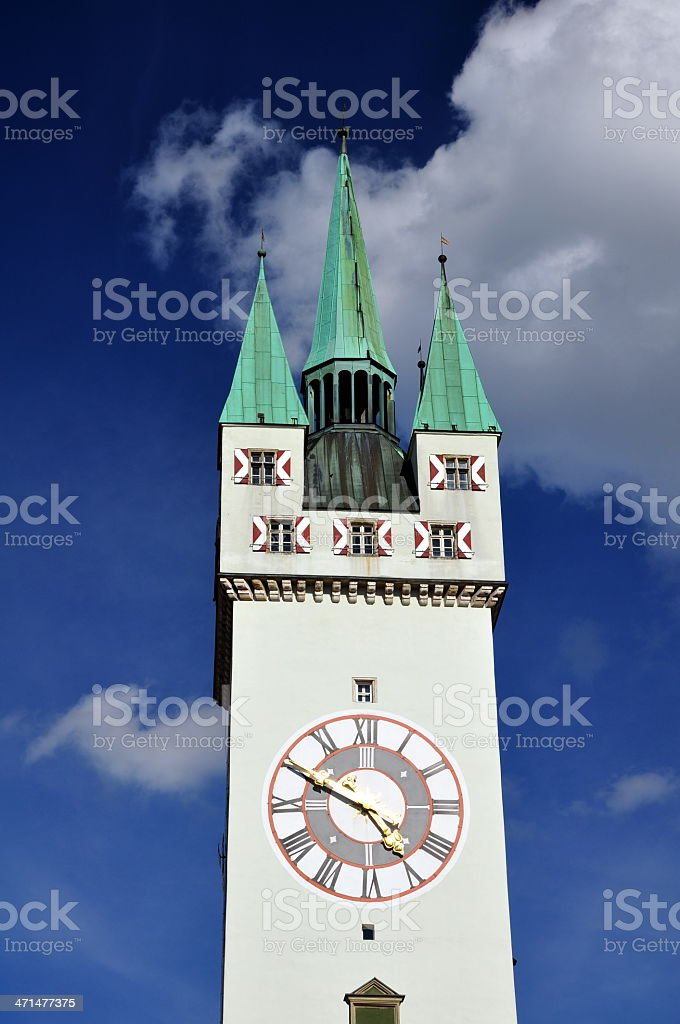 Old City Tower of Straubing - Bavaria, Germany stock photo