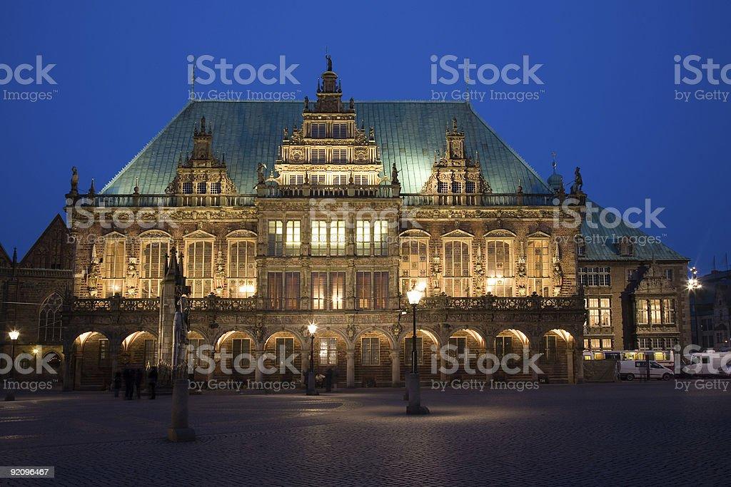 old cityhall of Bremen stock photo