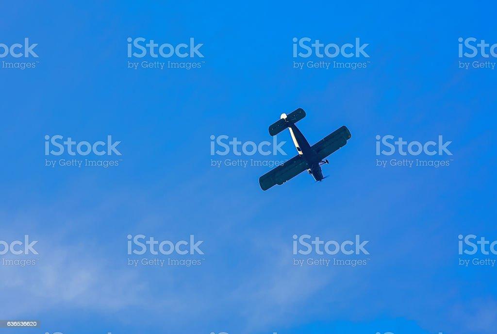 Old civil airplane stock photo
