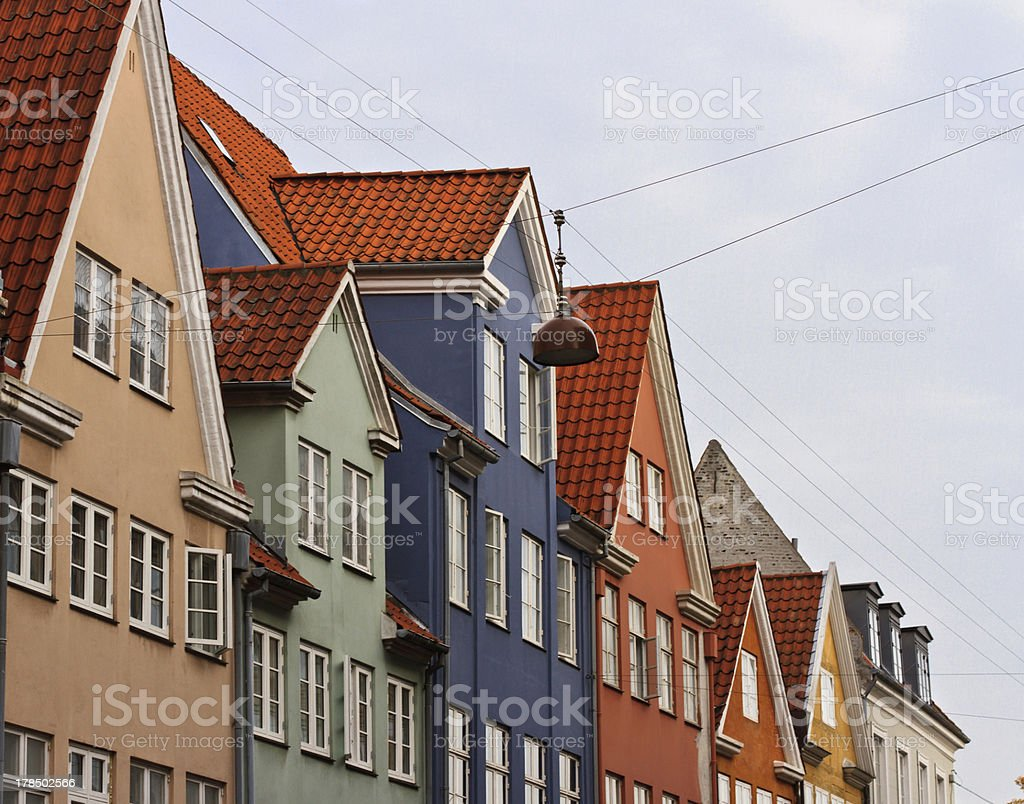 Old classic architecture in Copenhagen royalty-free stock photo