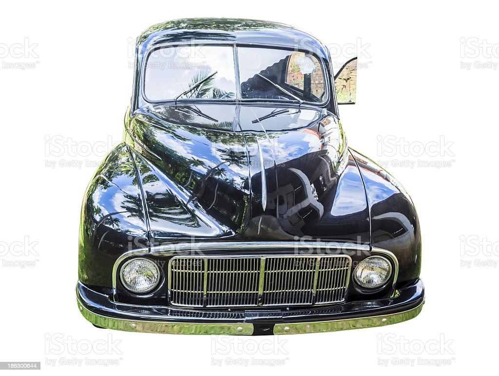 Old classic car face stock photo